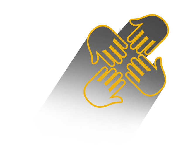 Four hands together icon